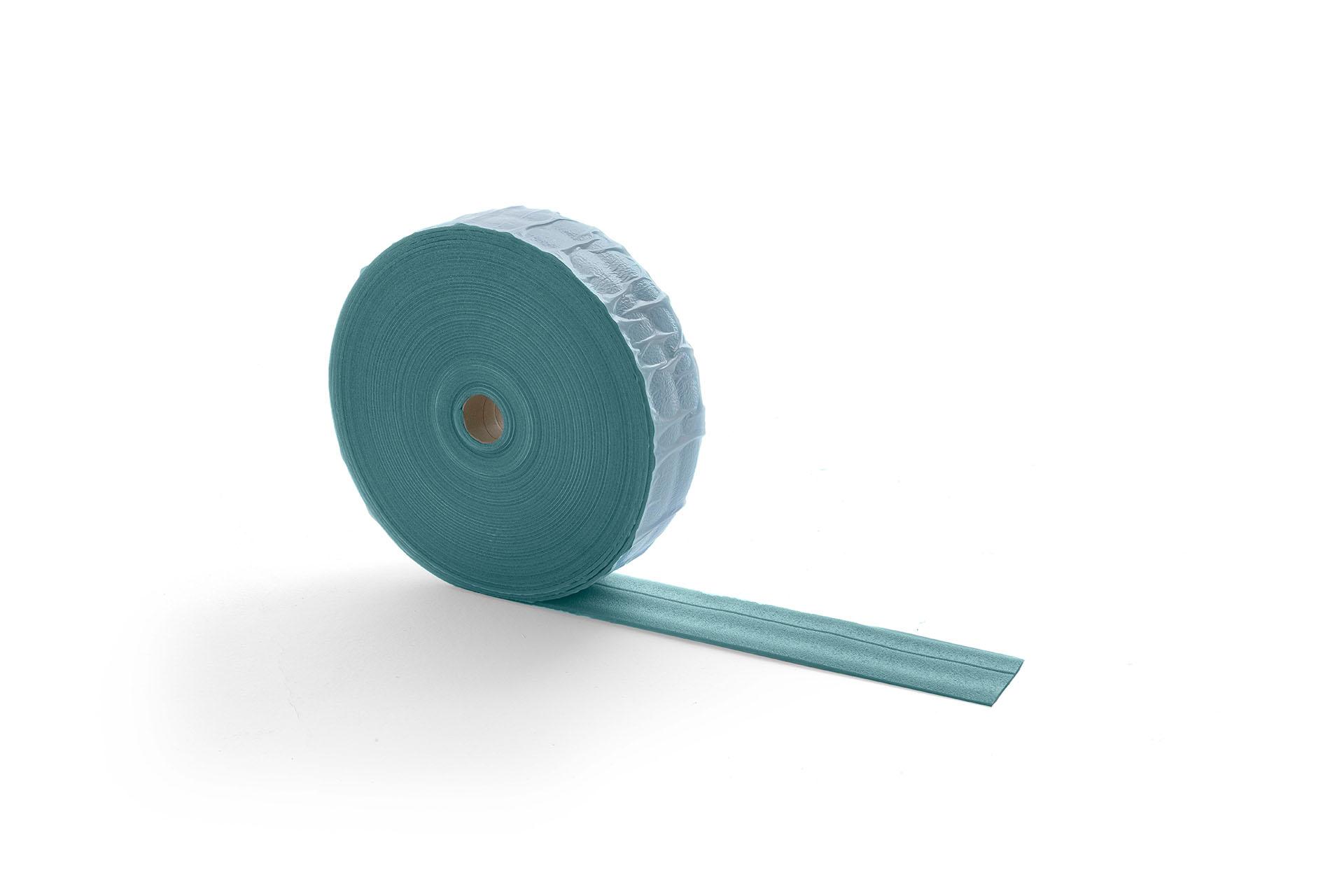 Self-adhesive insulating perimeter band