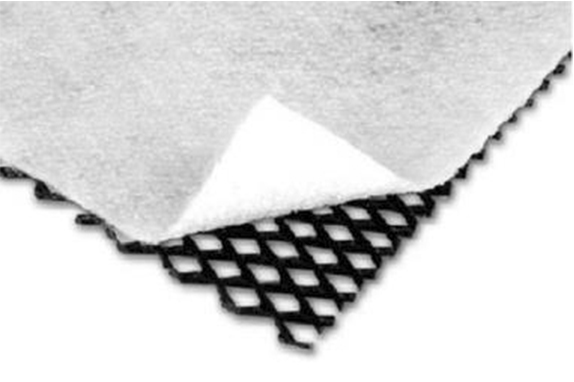 HDPE geonet with one nonwoven geotextile