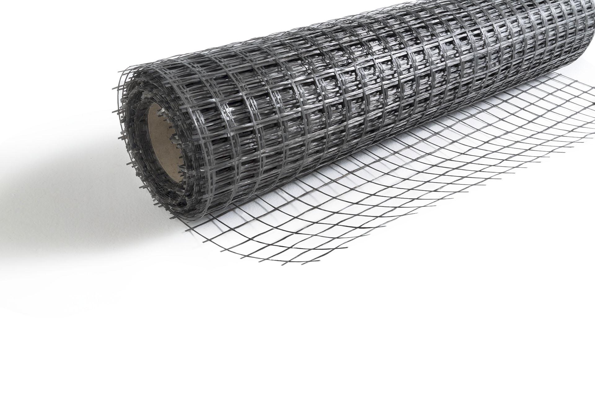 Rete in fibra di vetro per rinforzo cls