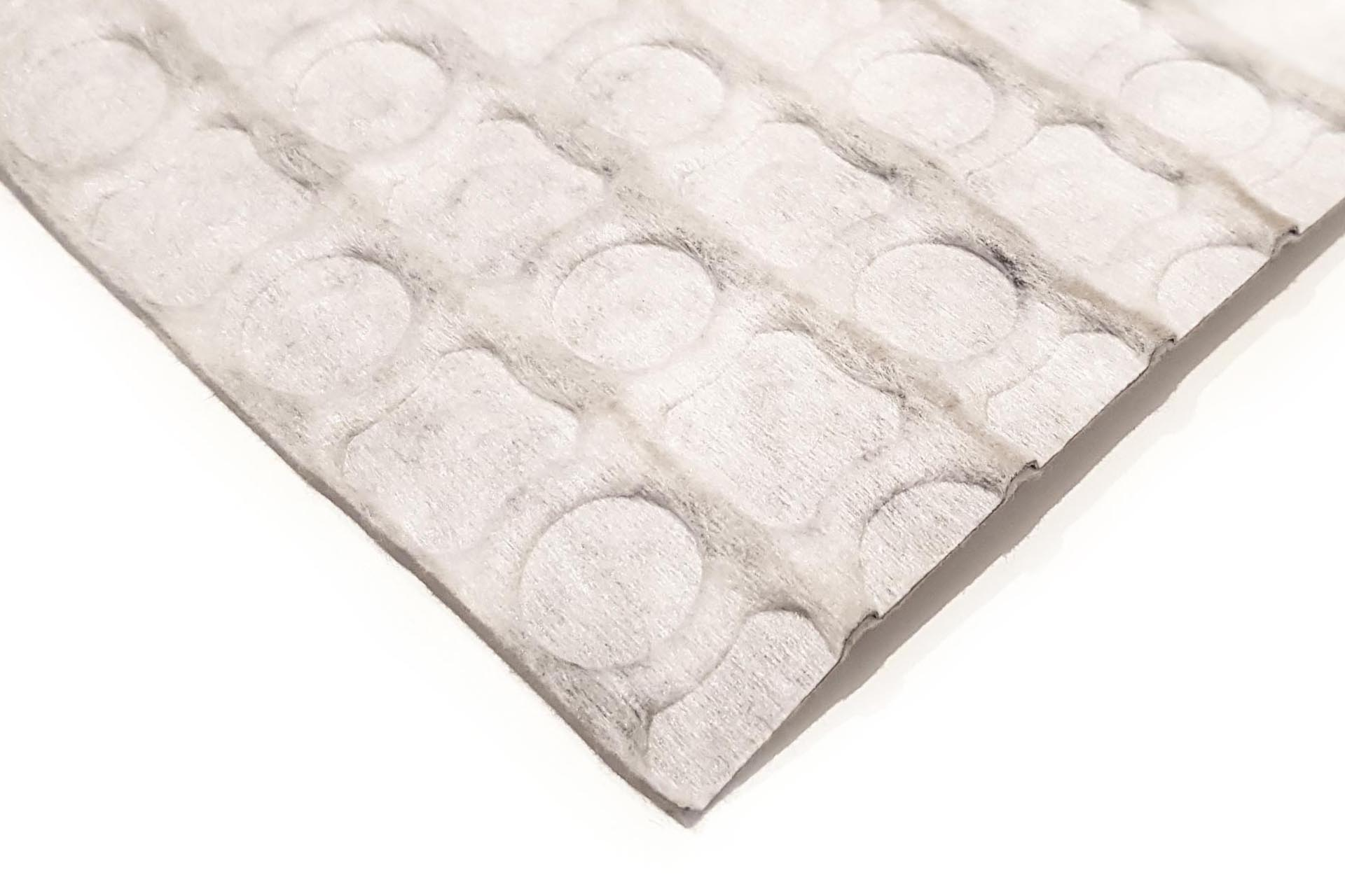 HDPE studded membrane, 3 mm thick, with one nonwoven textile