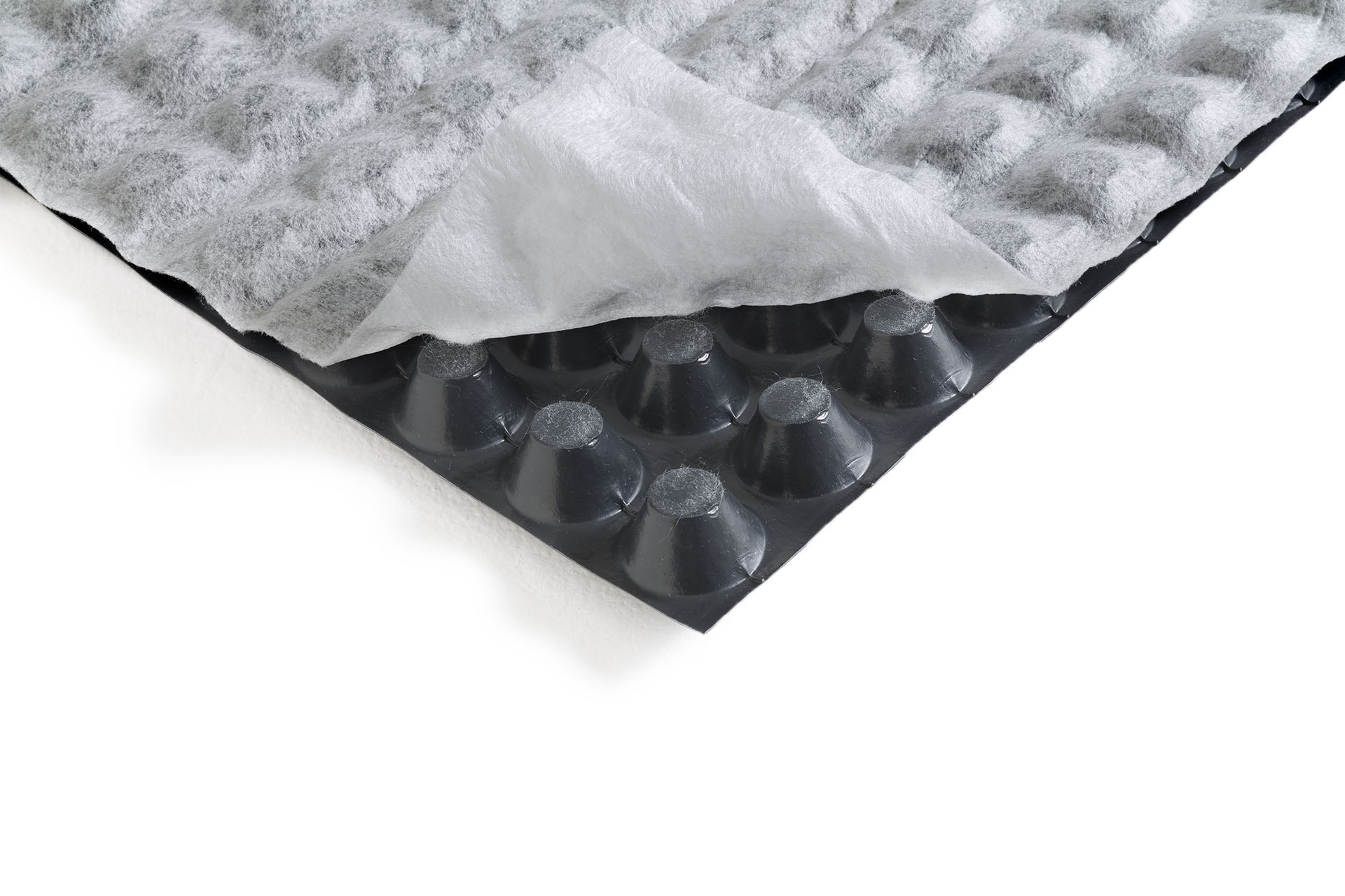 HDPE studded membrane, 20 mm thick, for Foundation and underground structures