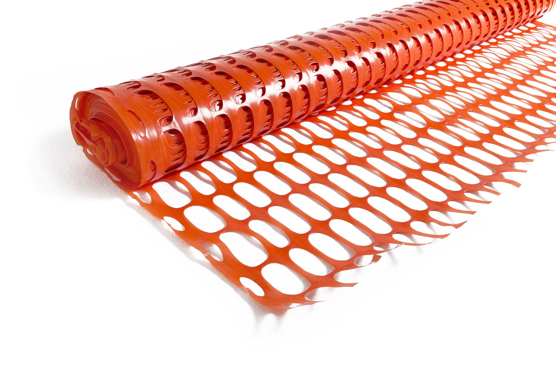T-Orange Net rete in HDPE per recinzione cantiere
