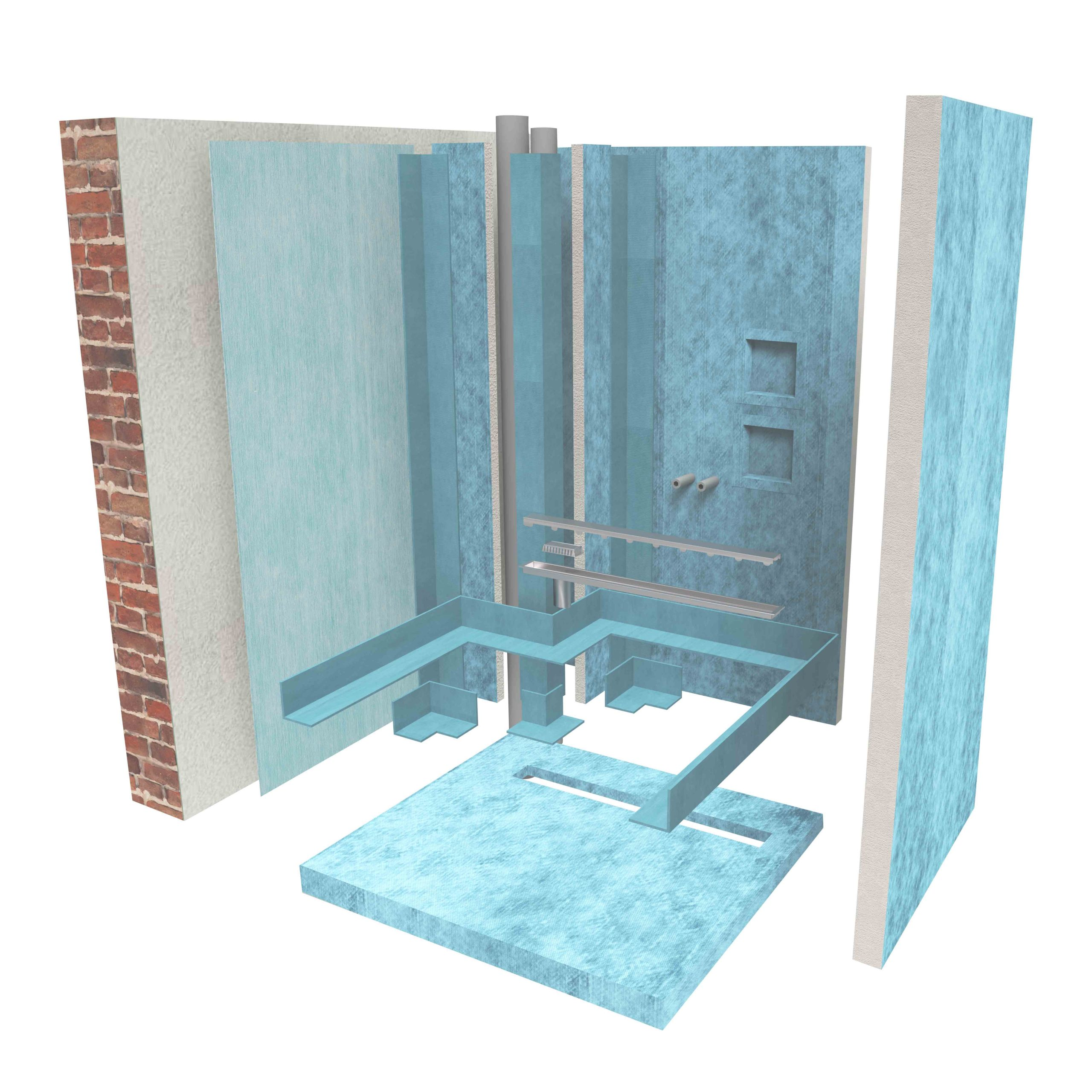 Waterproofing of the shower with panels
