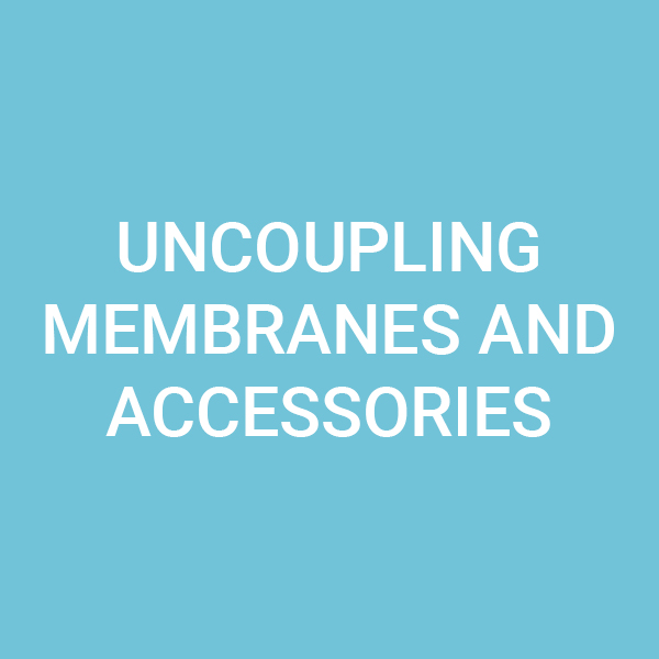Uncoupling membranes and accessories