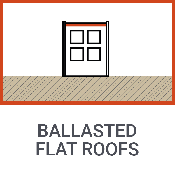 ballasted flat roofs