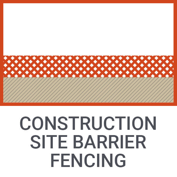 Construction site barrier fencing