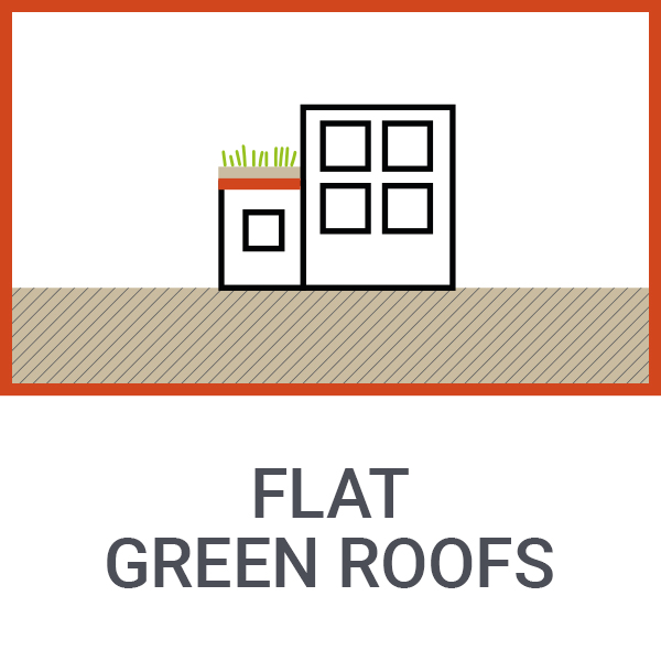 Flat green roofs